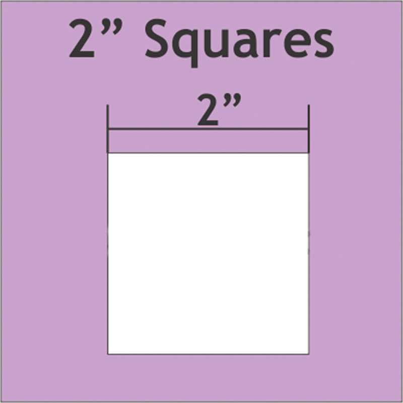2 Square - Small Pack : 50 Pieces