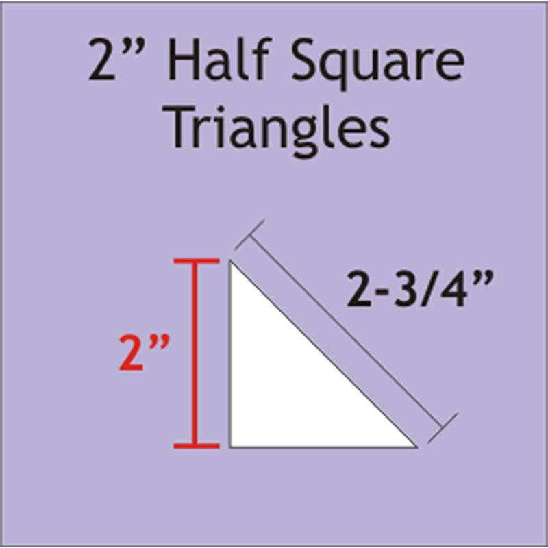 Half Square Triangle 2 100pcs
