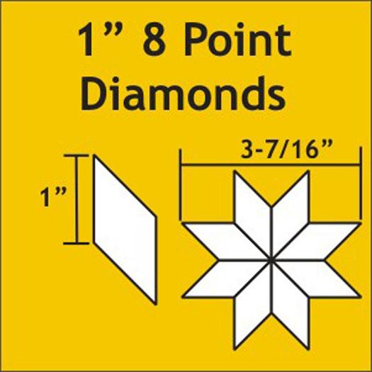 *8 Point Diamonds 1 100pcs