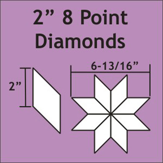 8 POINT DIAMONDS 2' PAPERS