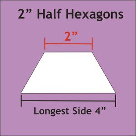 Paper Pieces Half Hexagons Papers - 2