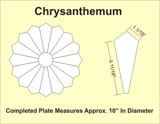 EPP Chrysanthemum Plate--12-1 Blk