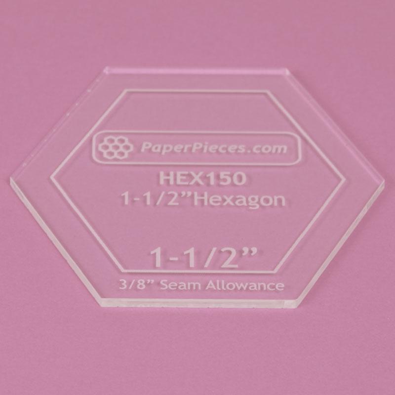 Acrylic Hexagon Template 1