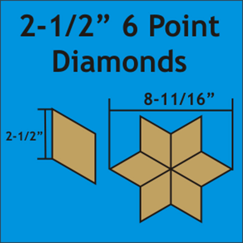 6 Point Diamonds 2 1/2 300pcs