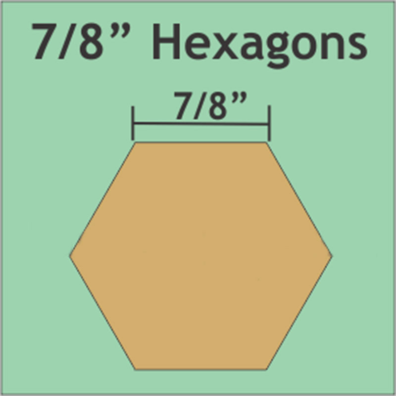 Hexagon 7/8in. 72pieces