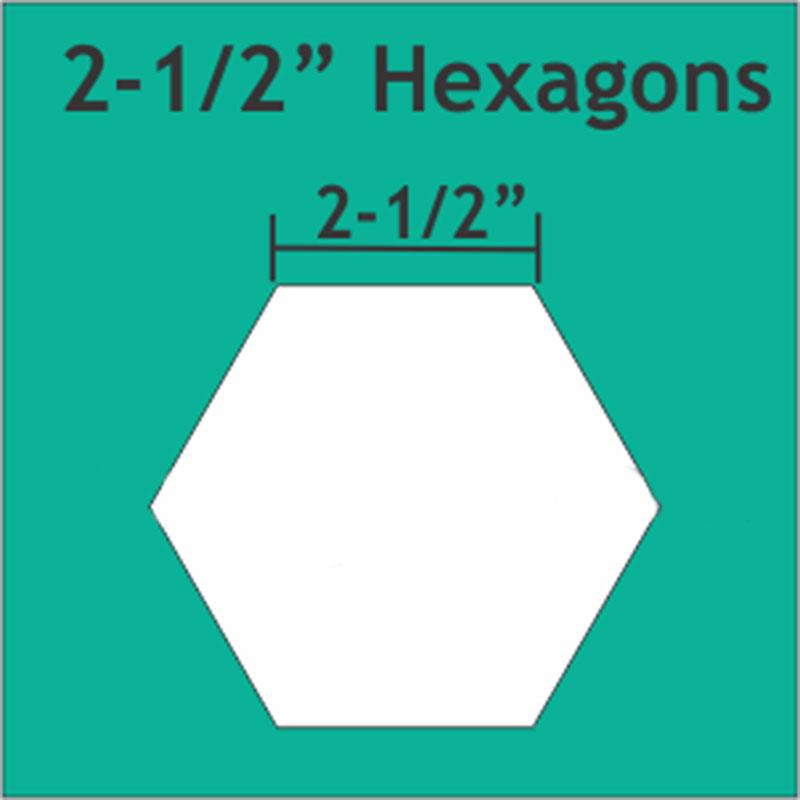 Hexagon 2 1/2 25pcs