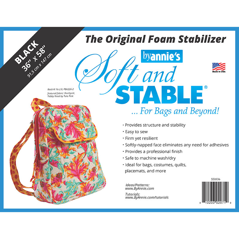 By Anne Soft & Stable 36x58 Black