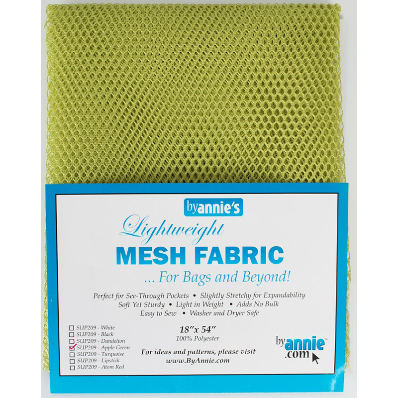 Mesh Fabric 18x54 Apple Green