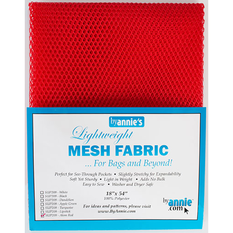 Mesh Fabric-Lightweight-Atom Red SUP209