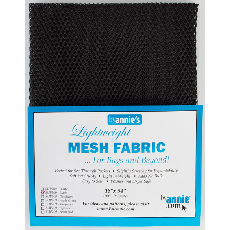 By Annie Mesh Fabric 18x54 -  Black