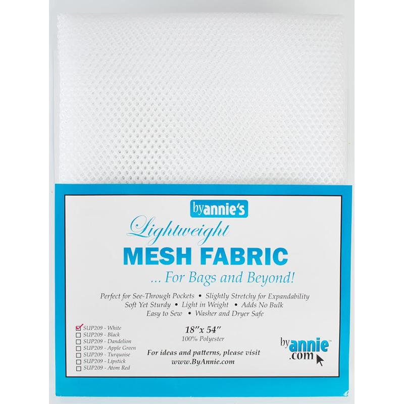 Mesh Fabric 18x54 White