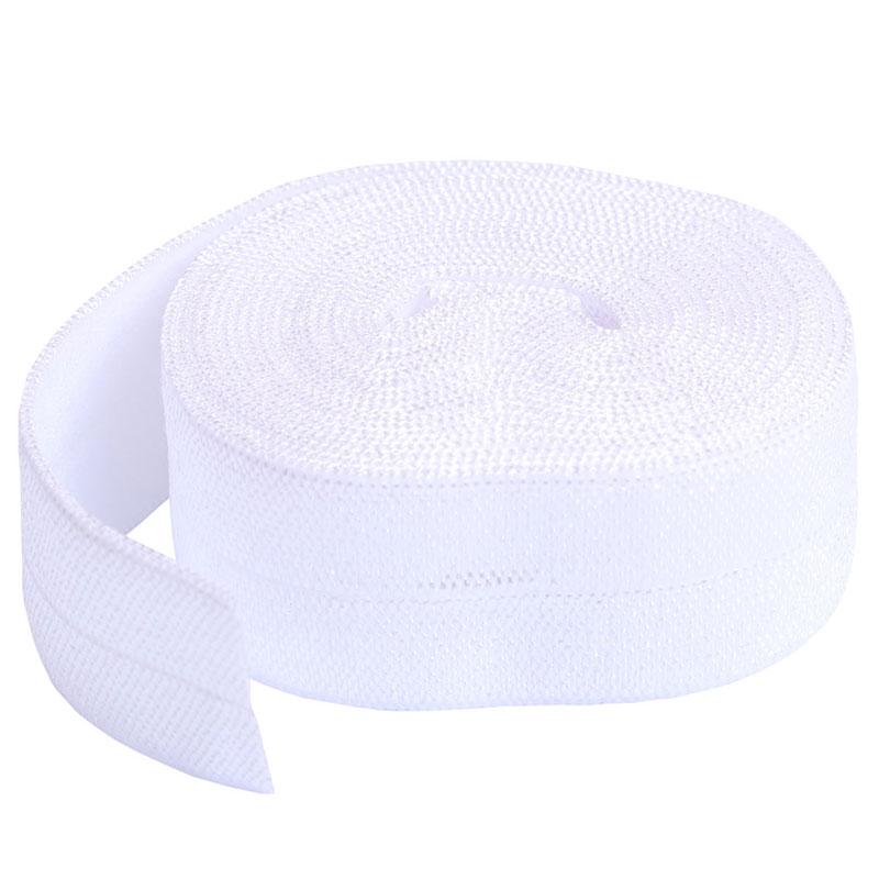 Fold Over Elastic 2yd White