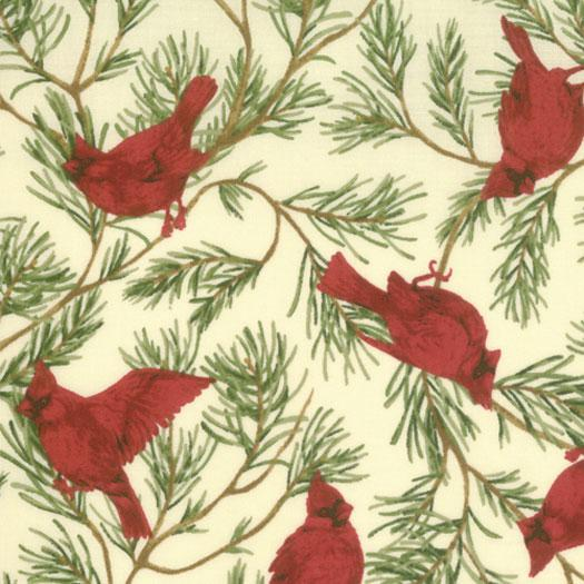 1 Meter Cut - Woodland Holiday Ivory