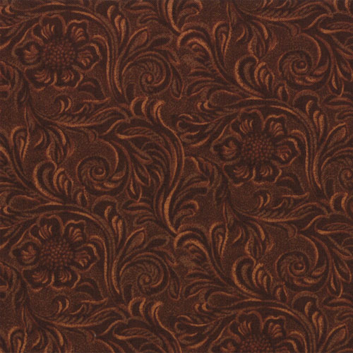 Q - Tooled Leather Brown