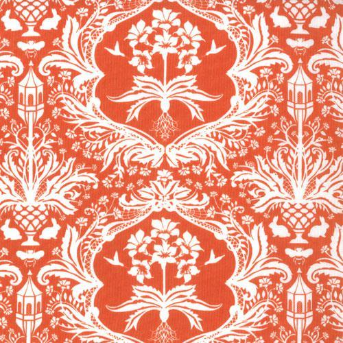 Flora Garden Damask Tangerine 3 yds