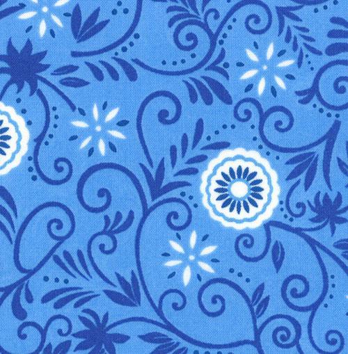 Spa, Deb Strain, Moda, Blue Floral