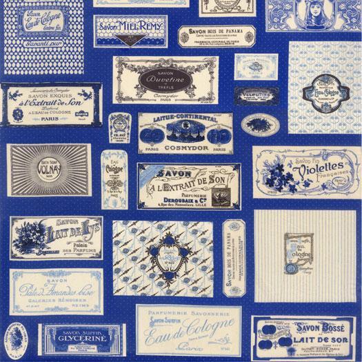 Savonnerie Soap Labels Blue