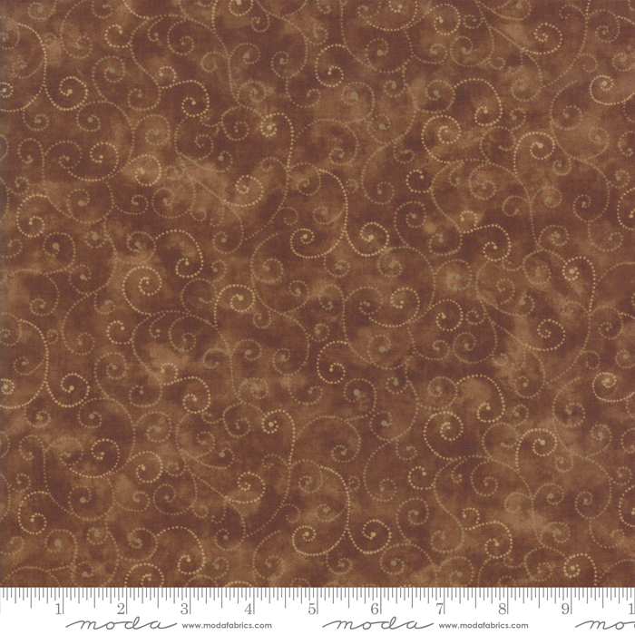9908 81 Marble Swirls Chocolate by Moda