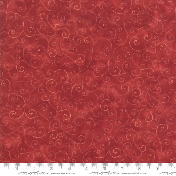 9908 89 Marble Swirls Cardinal by Moda