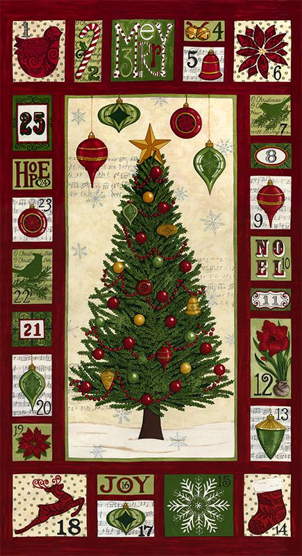 Christmas Countdown Panel Red