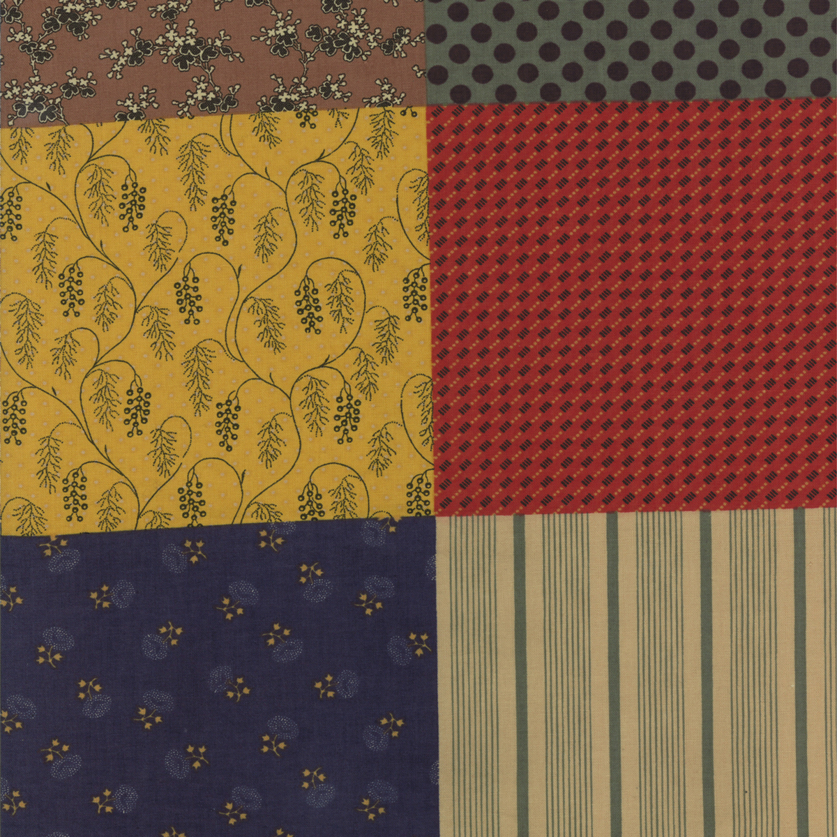 Collections for a Cause: Love Multi Patchwork Yardage