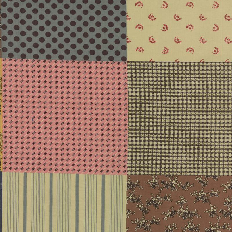 Collections Love Antique Tan Patchwork Yardage
