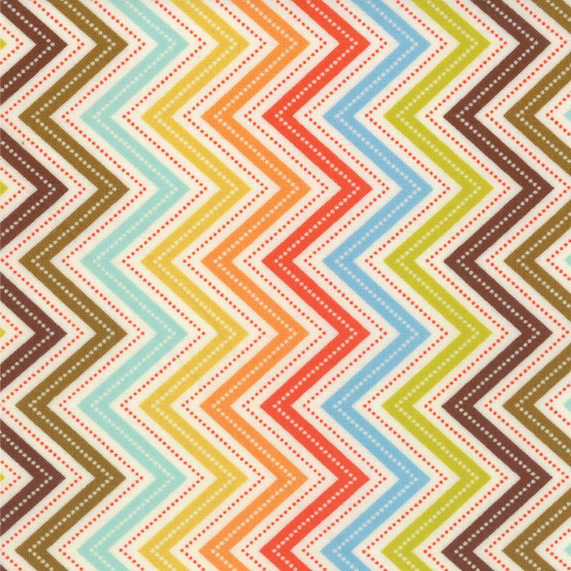 Wrens Friends Cream Chevron 1 yd