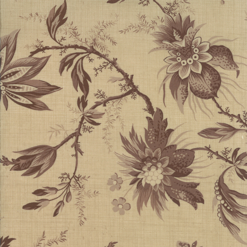 Fabric - French General - Josephine Oyster Old Brown -13652-20