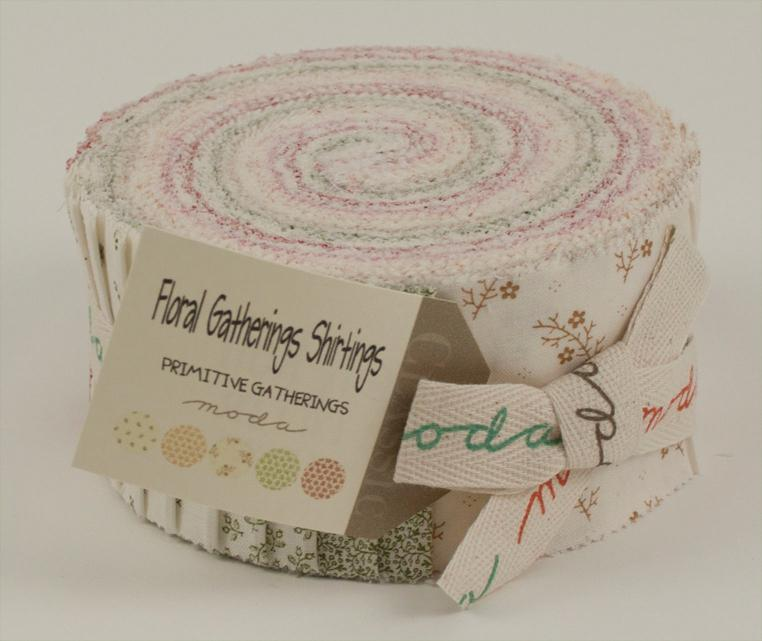 Floral Gatherings Shirtings Jelly Roll