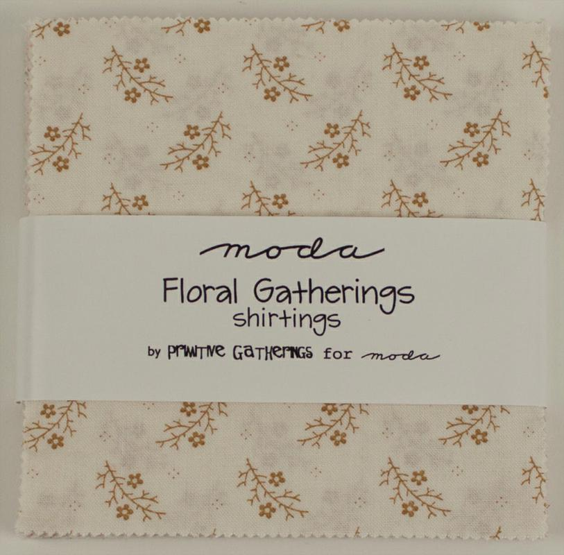 Floral Gatherings Shirtings Charm Pack
