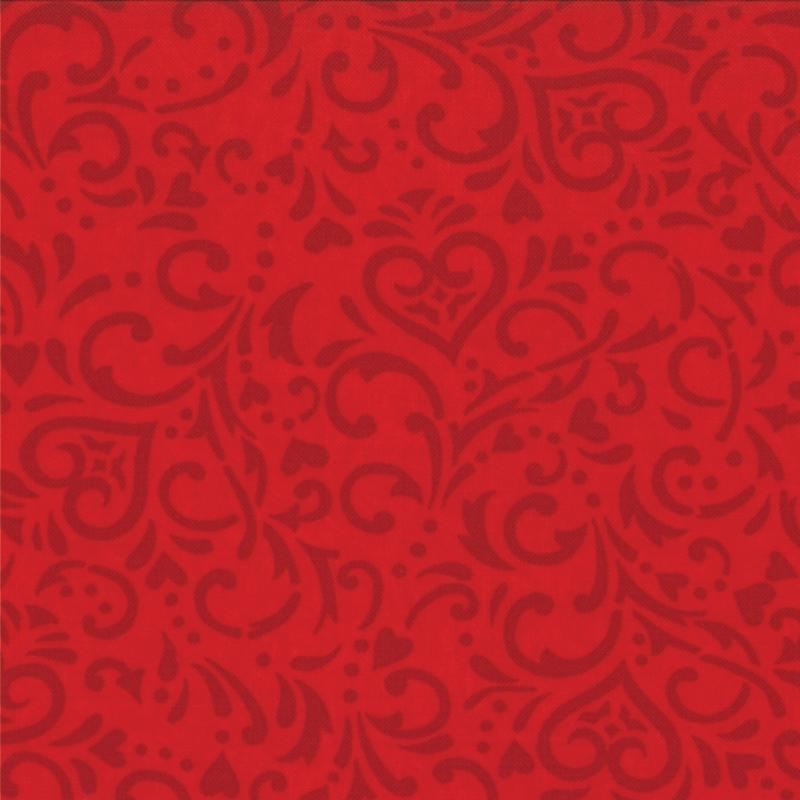 Surrounded By Love Heart Red 1 yd