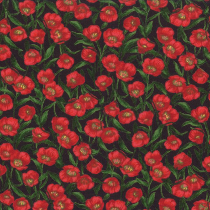 Wildflowers VI Red Allover Poppies