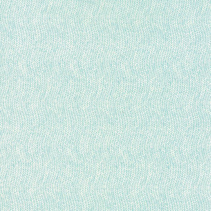 Be Jolly Icy Aqua Snowy White by Moda