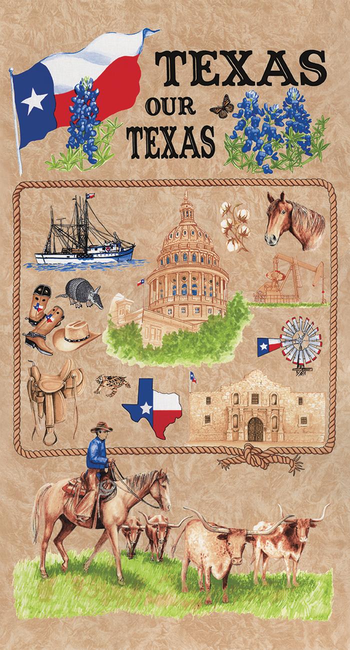 Texas Our Texas Panel Natural Moda 11270 12