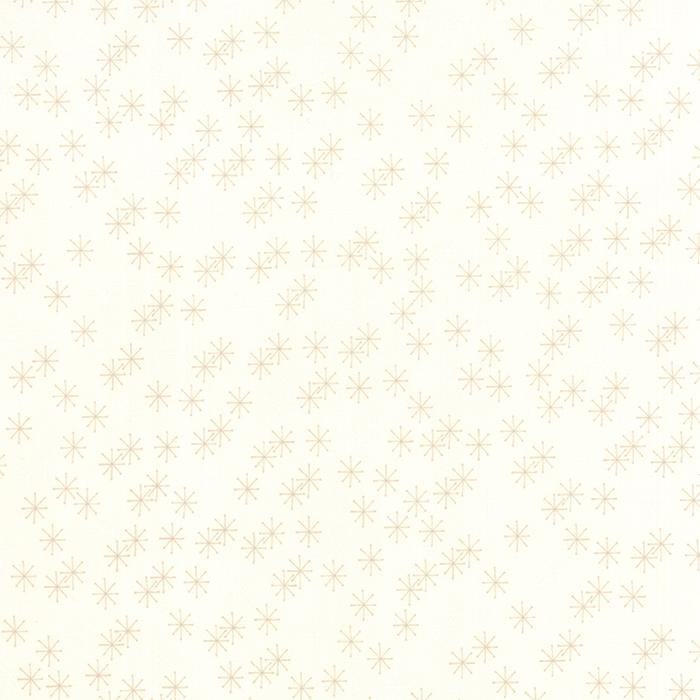 Mistletoe Lane White Moonlight Snowflakes, fat quarter