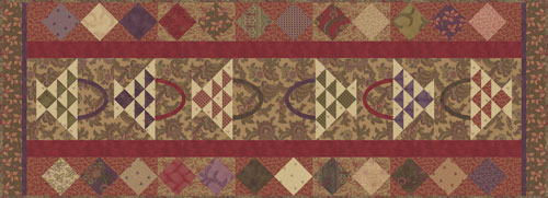 Collections 1892 Table Runner size 20x56 - Howard Marcus - Moda
