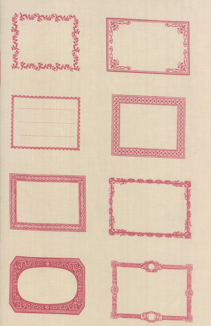 Souvenir Quilt Labels Rouge PANEL2