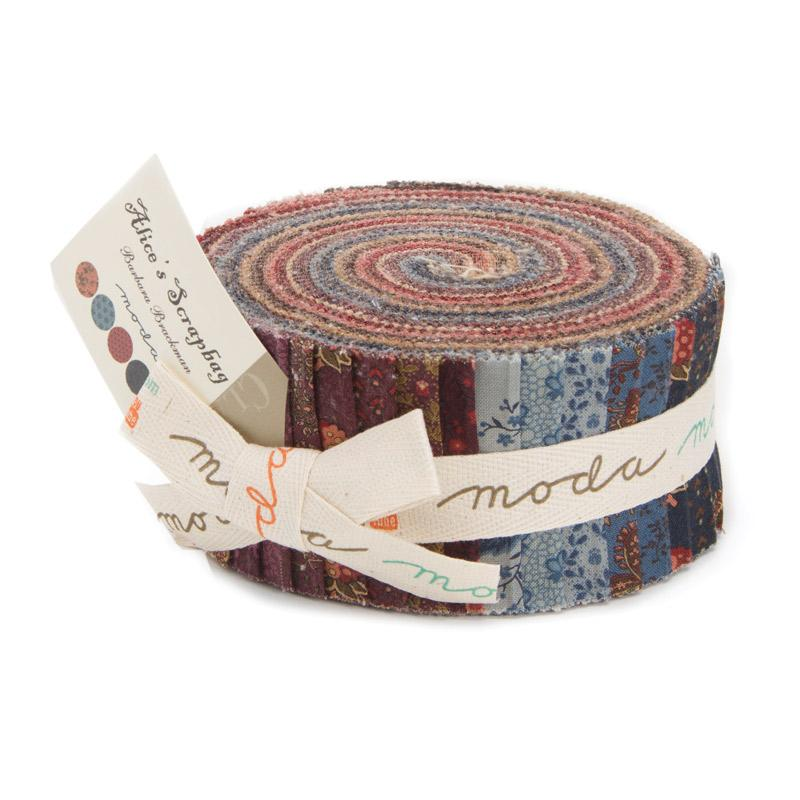 Alices Scrapbag Jelly Roll - Barbara Brackman - Moda