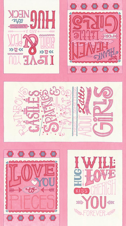 Hugaboo Girl Panel Twirly Pink