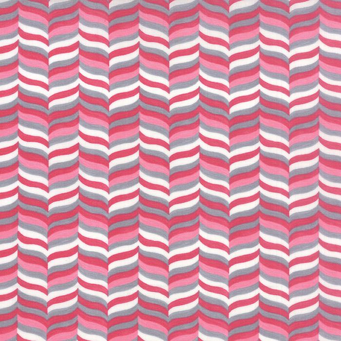 Moda - Hugaboo-Wavy Herringbone/Pink - 19736 11