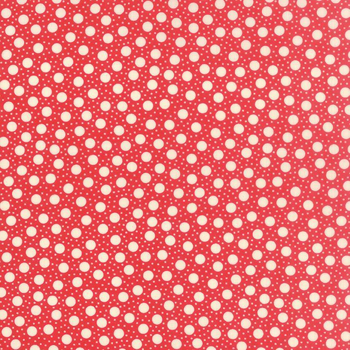 Hometown Girl Dots Cherry Yardage