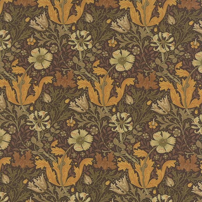 Barbara Brackman Moda Morris Earthly Paradise Brown Cotton Quilting Fabric MO62