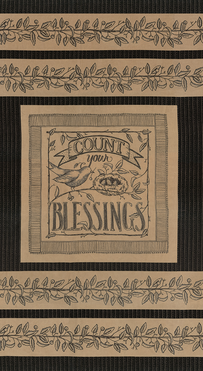 Count Your Blessings Chamois Panel