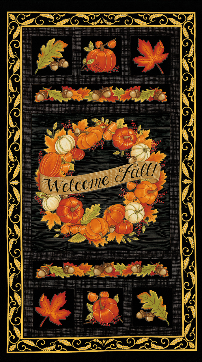 Welcome Fall (Black) Panel (F4270)