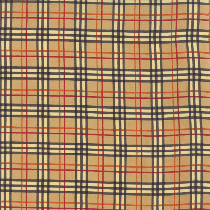 WELCOME FALL 186419776-11 ACORN TAN BLACK PLAID