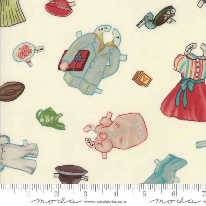 Moda | American Jane - Hop Skip And A Jump! Cream Paper Doll Accessory 21701-11