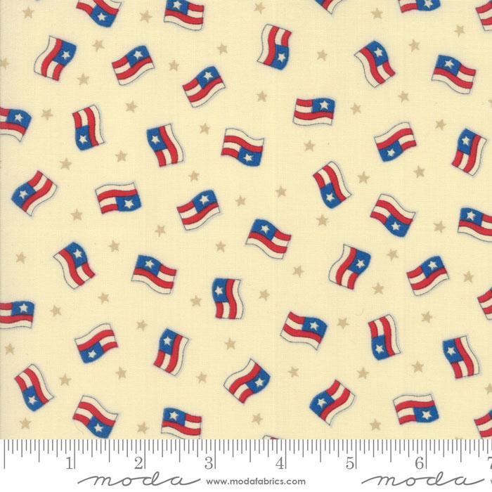 Sew American Cream Flags