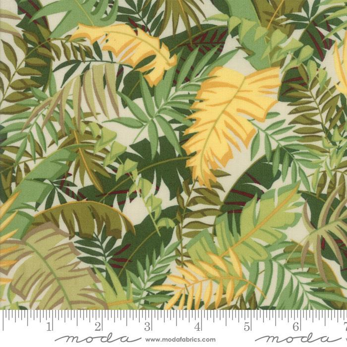 Collections Sunshine Ivory Green and Yellow Leaves
