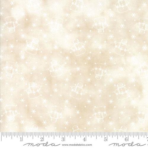 Snowman Gather III Tallow Tan 1210 11 by Primitive Gatherings for Moda+