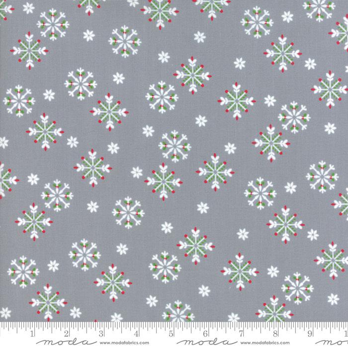 Jingle Birds Gray Snowflakes